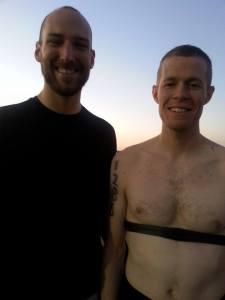 Pete and me pre-swim