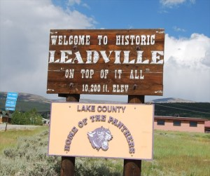 leadville sign post
