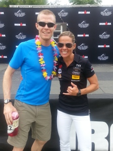 The obligatory Kona shot with Mirinda Carfrae