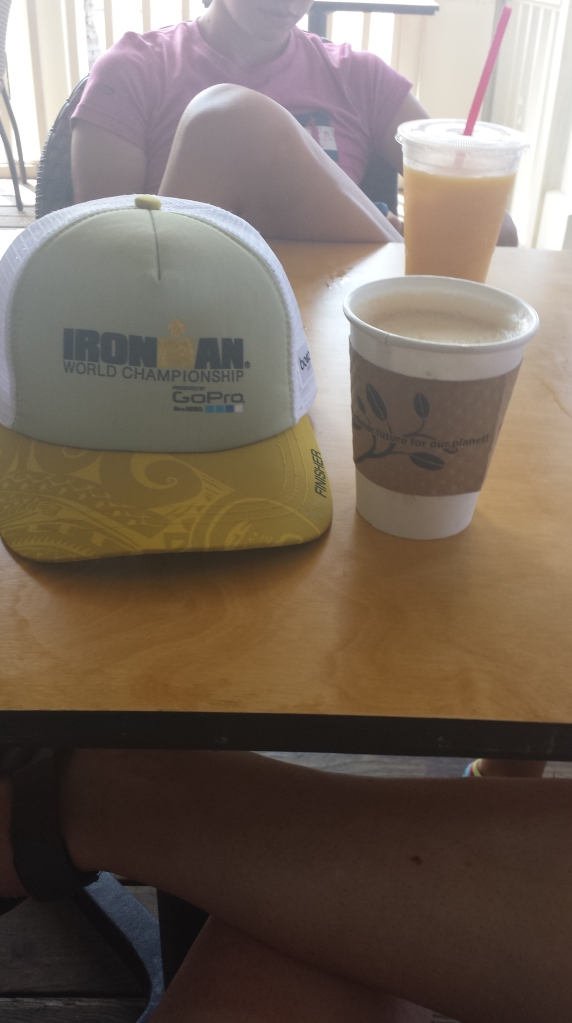 How do I celebrate becoming a Kona finisher? With coffee, of course.