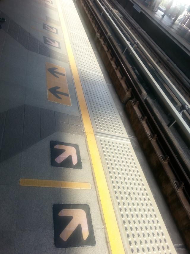 Metro queue lines.