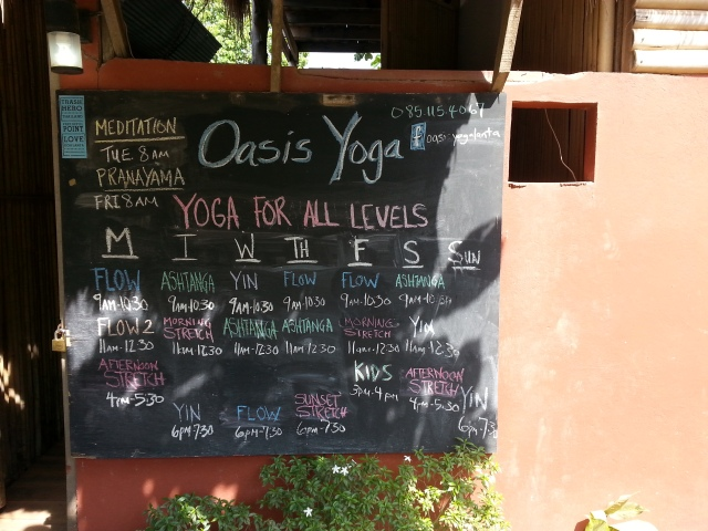 Oasis Yoga class schedule