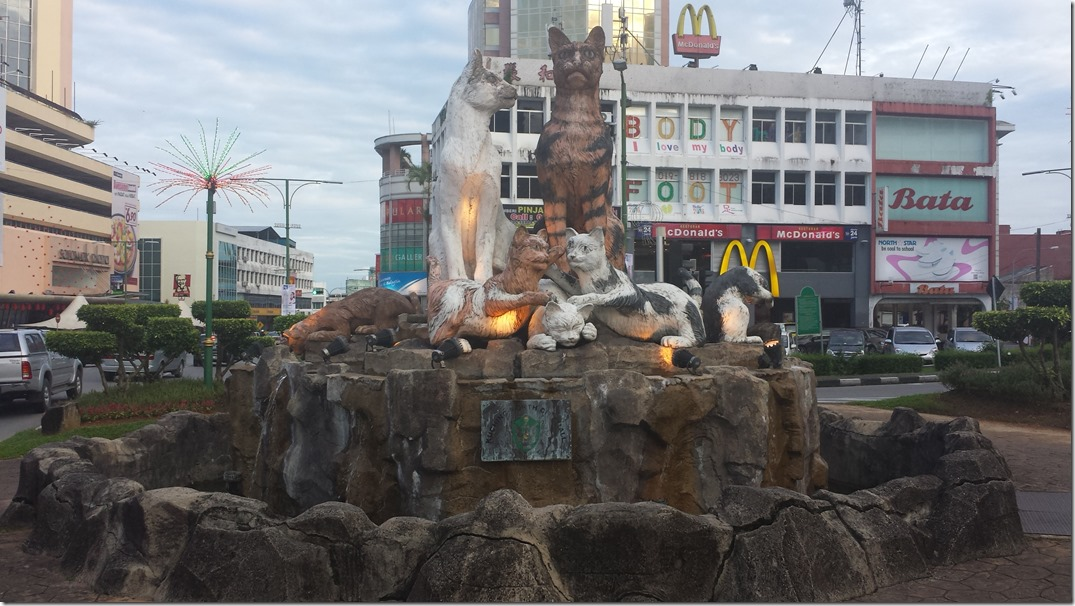 Another cat statue in Kuching