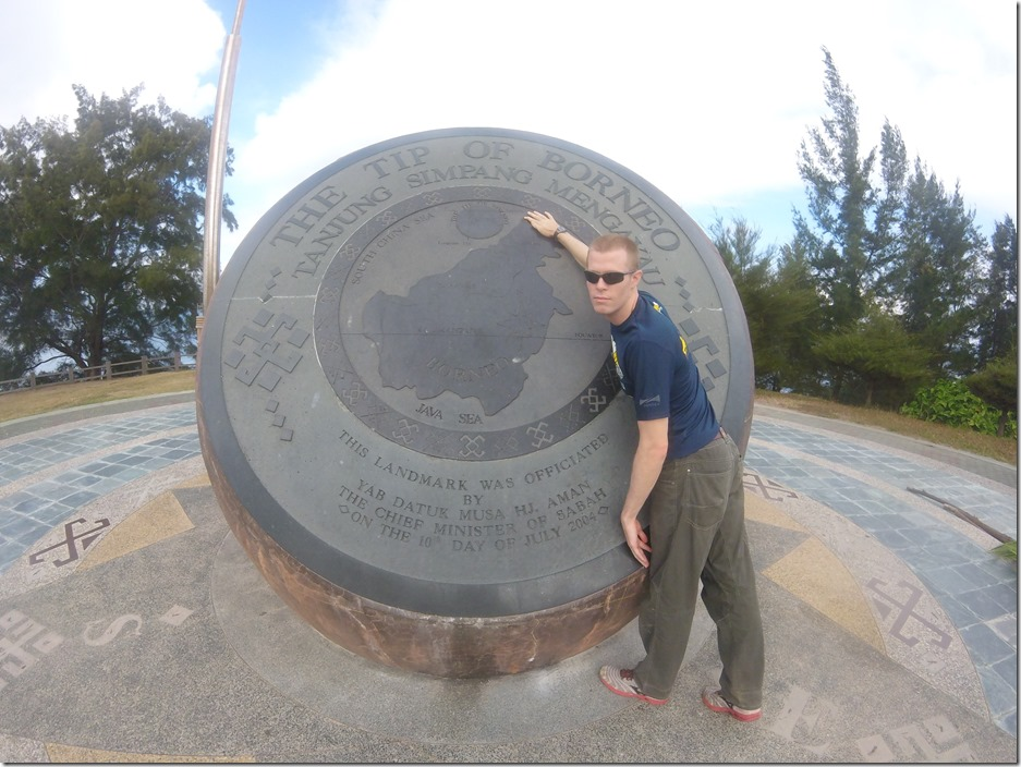 I was pumped to be at the Tip of Borneo.