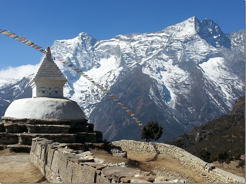 Mountains above Namche Bazaar