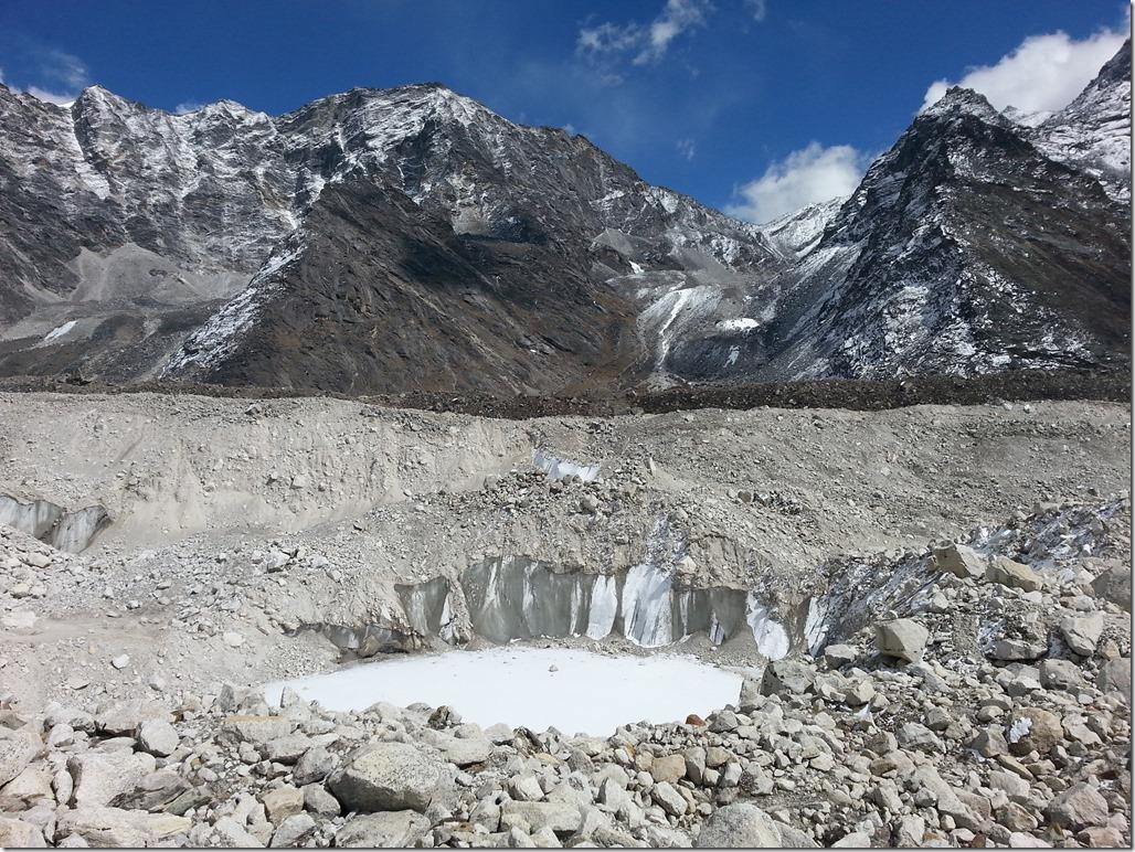 Himalayan glacier ice wall