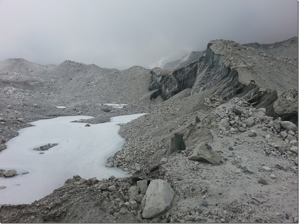 Rock strewn glacier in Nepal