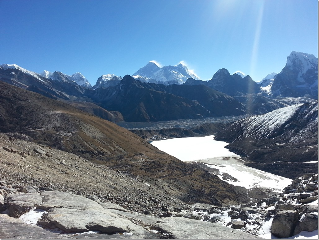View of Everest from Renjo La.
