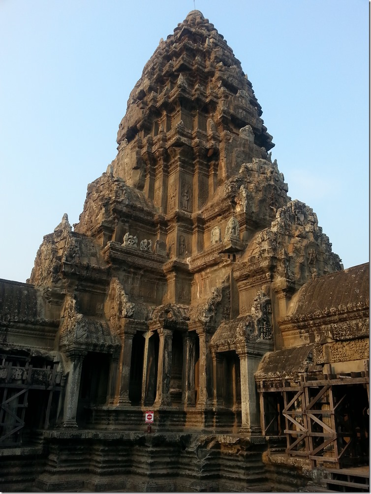 One of the towers of Angkor Wat.