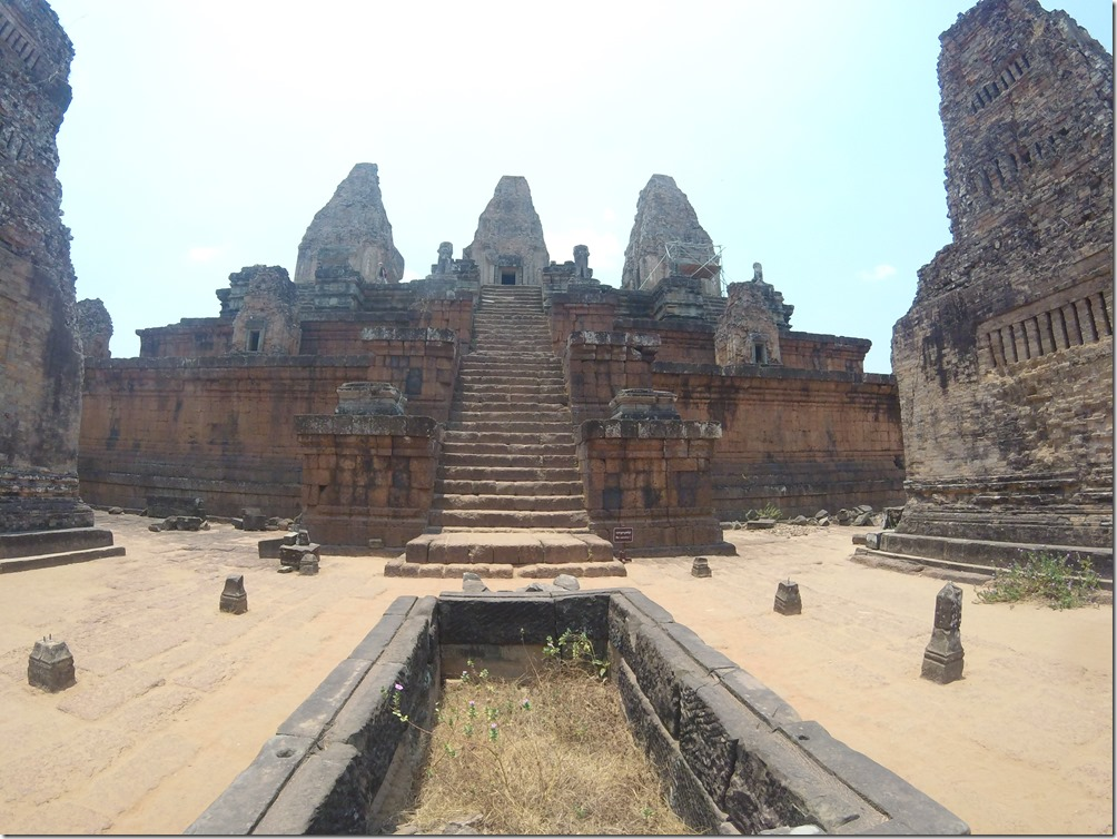 One of the temples of Angkor Wat.