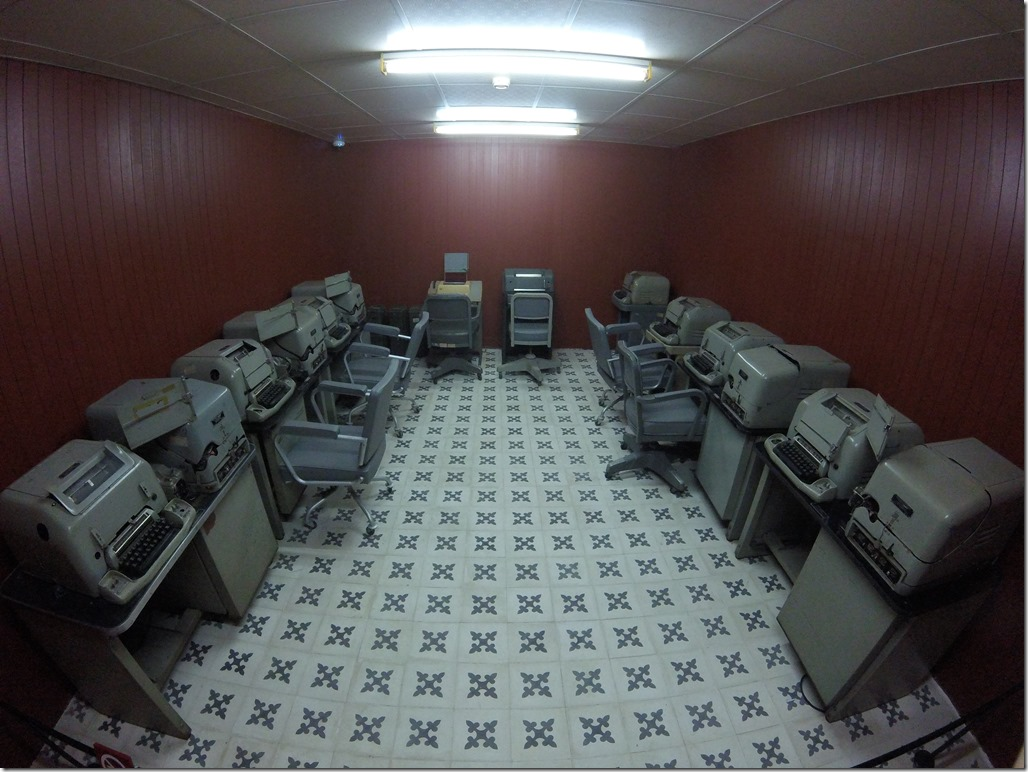 The communications room in the bunker of the Reunification Palace.