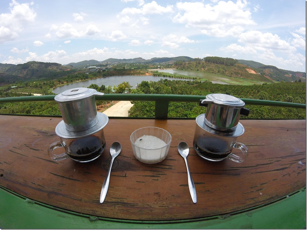Coffee at Me Linh Coffee Garden in Dalat, Vietnam