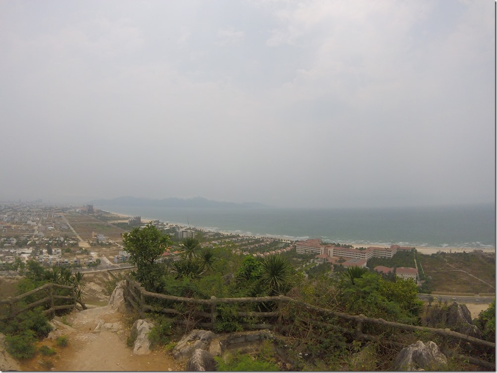 View of Danang from the top of Marble Mountain.