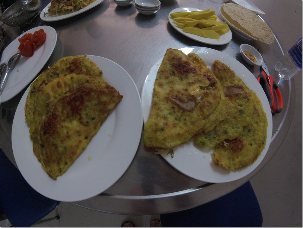 Rice pancakes. One of the dishes we prepared during our cooking class in Danang.