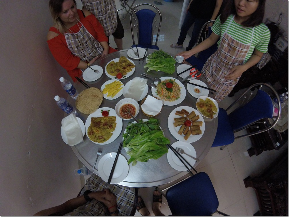 The meal we prepared during our cooking class in Danang