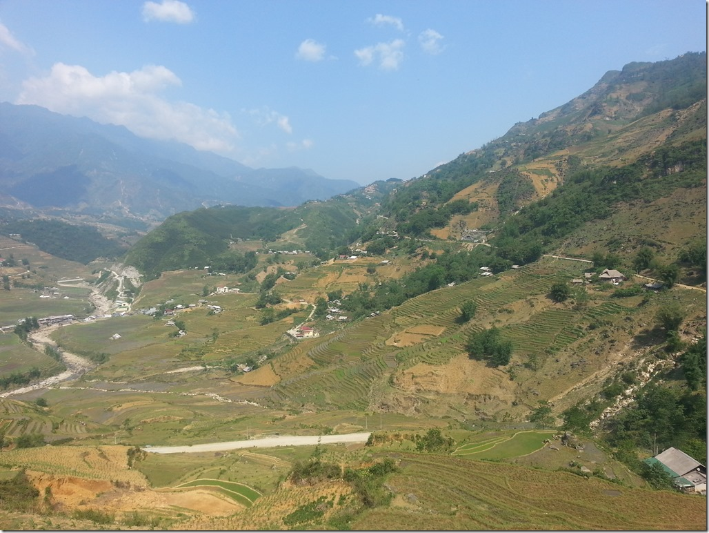 Views of the rice terraces in Sapa.