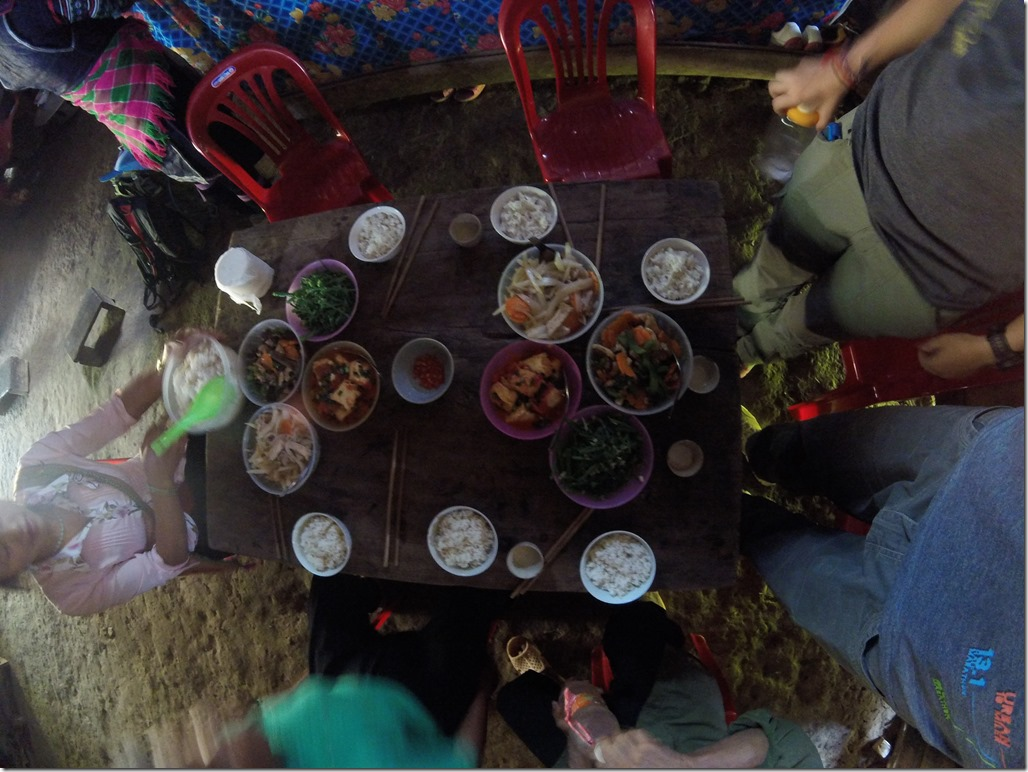 Food on trek in Sapa.