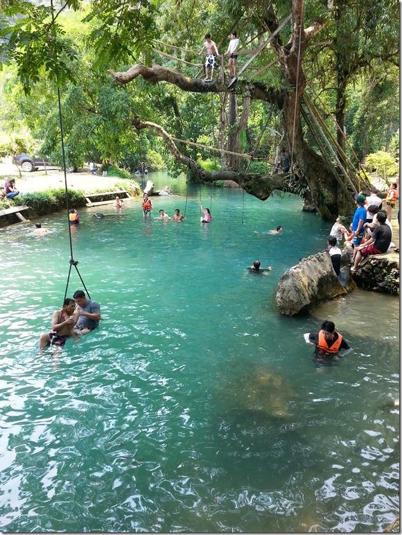 Blue Lagoon in Vang Vieng.
