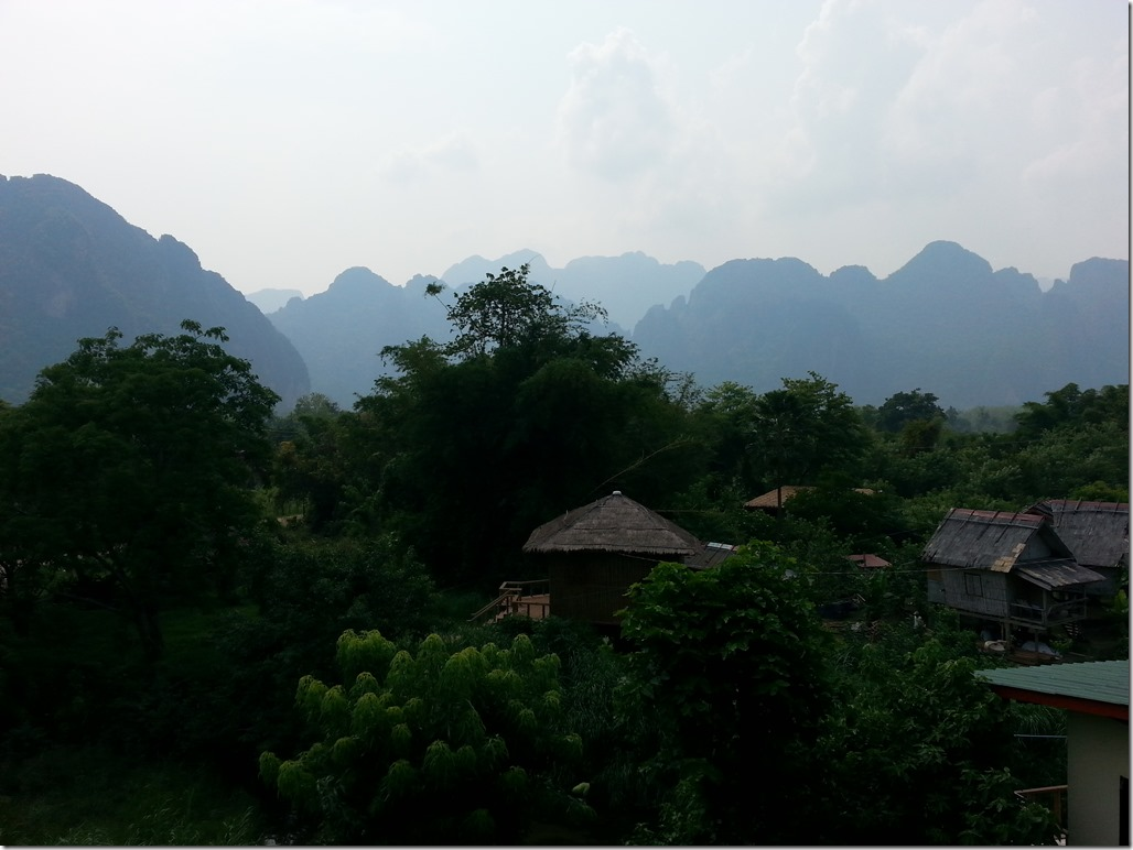 View from our hotel in Vang Vieng.