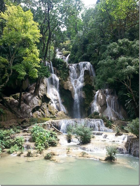 The top waterfall at Kuang Si.