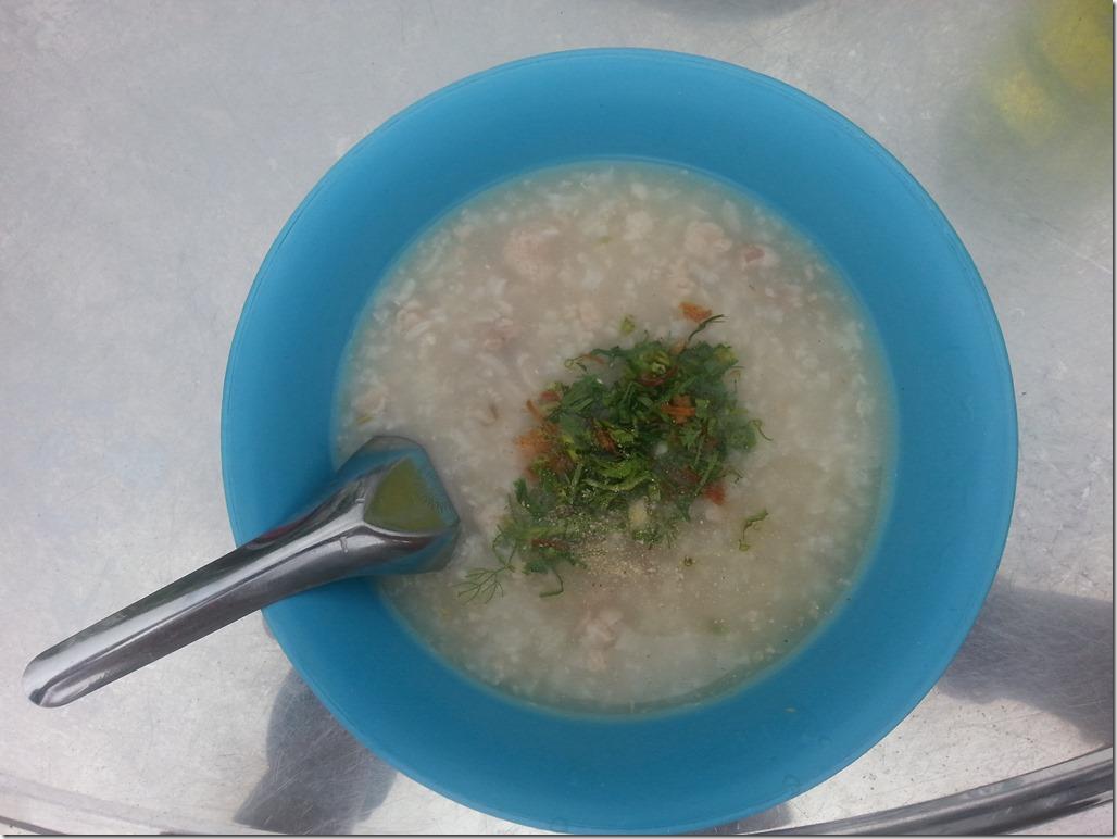 Breakfast porridge we stumbled upon in Luang Prabang.