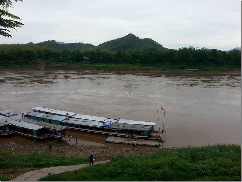 The slowboat pier outside of Luang Prabang.