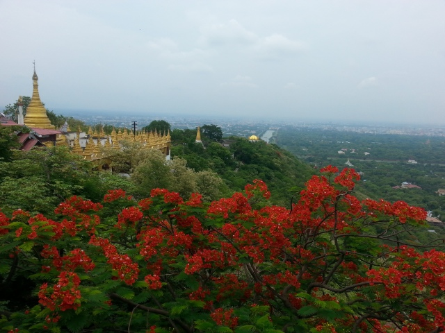 View from the top of Mandalay Hill.