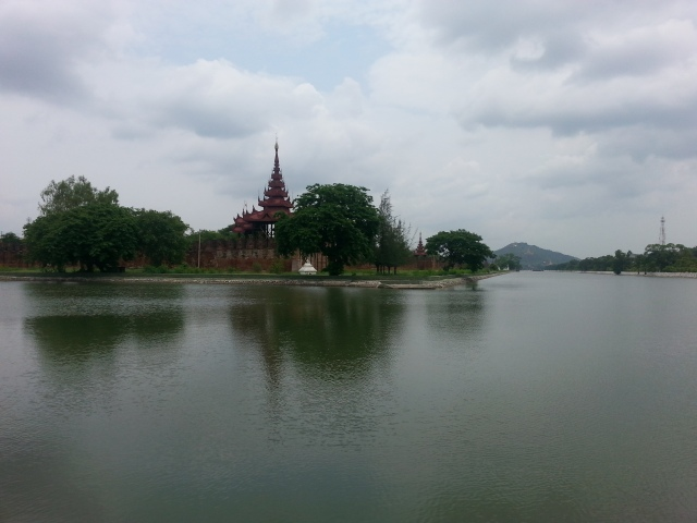 Views from our run around the old city. Mandalay Hill can be seen in the background.