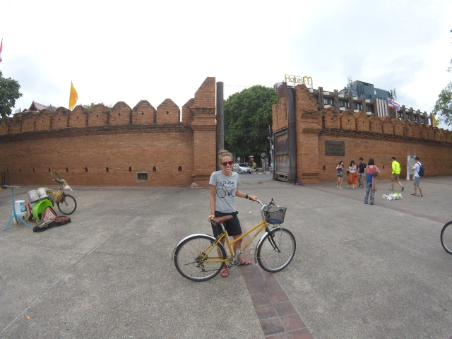 Exploring Chiang Mai by bike.