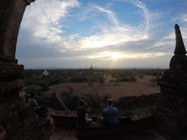 Bagan at Sunset.