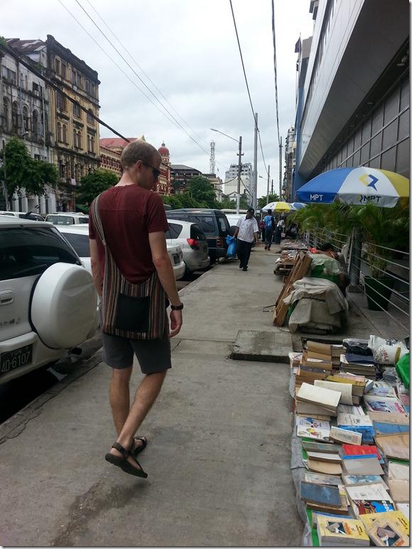 sidewalks in Yangon