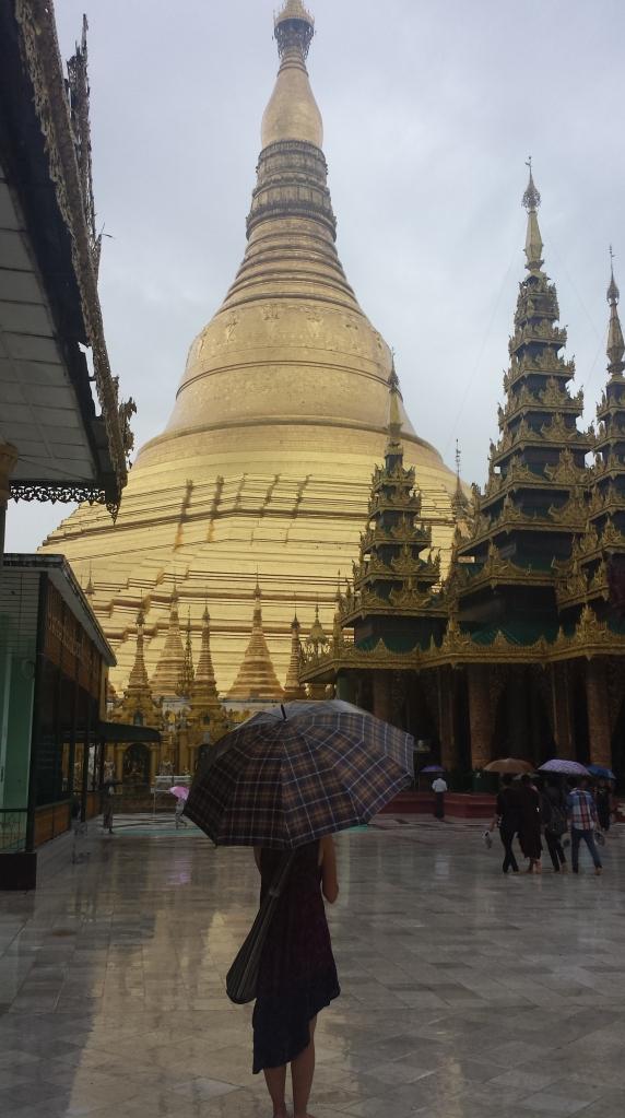 Shwedagon Pagoda in the Rain.